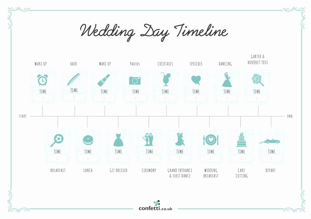 Wedding Day Timeline Printable Beautiful Wedding Day Timeline Free Printable Guide Confetti