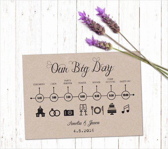 Wedding Day Timeline Printable Elegant 29 Wedding Timeline Template Word Excel Pdf Psd