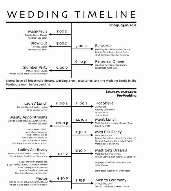 Wedding Day Timeline Printable Elegant Free Wedding Day Timeline Printables