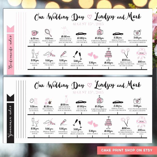 Wedding Day Timeline Printable Elegant Printable Wedding Itinerary Wedding Day Itinerary