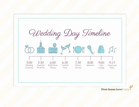 Wedding Day Timeline Printable Lovely Wedding Day Timeline Card Itinerary for Guests Big Day