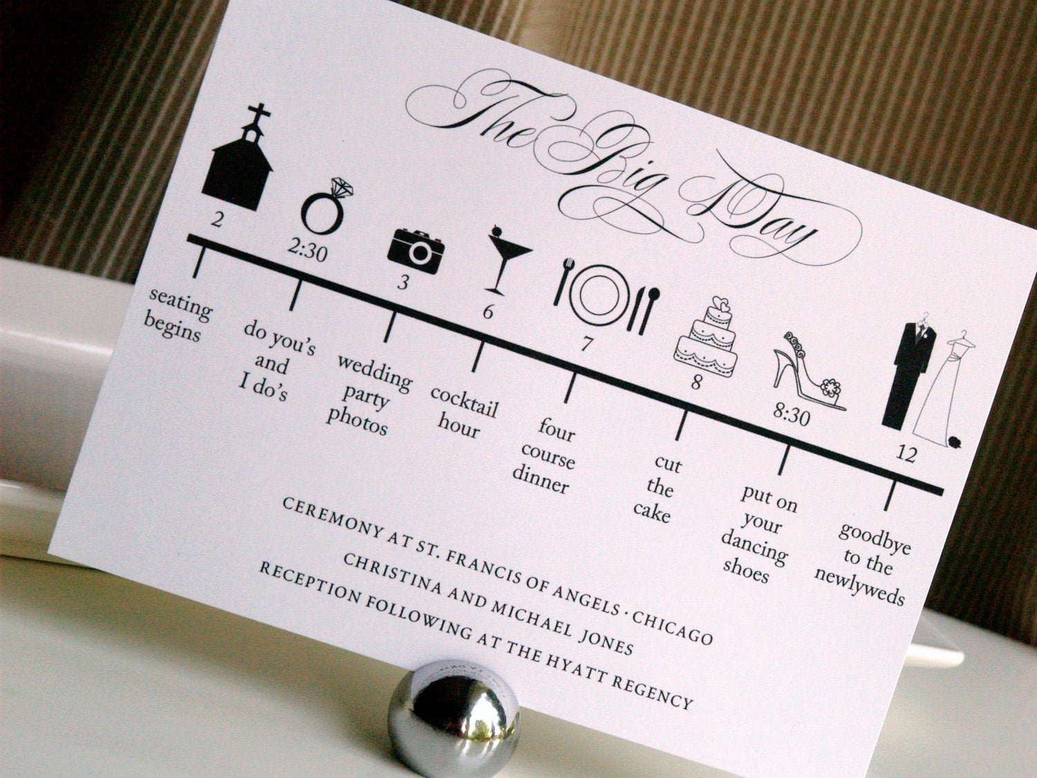Wedding Day Timeline Printable Luxury Custom Diy Printable Wedding Timeline by Gracewarrendesigns