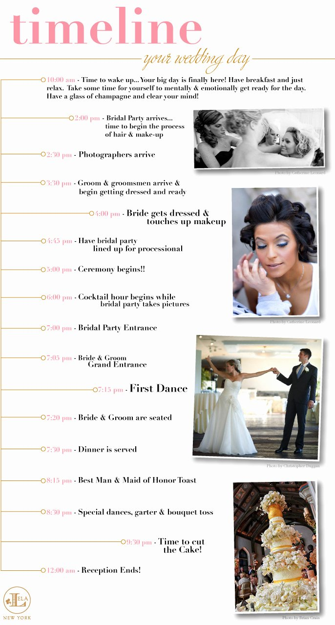 Wedding Day Timeline Printable New New York Weddings New York Wedding Blog