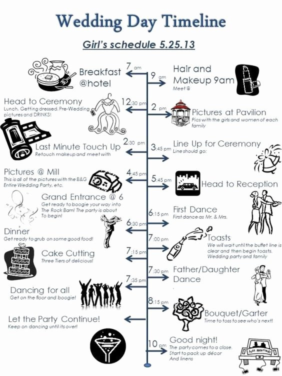 Wedding Day Timeline Printable New Pinterest • the World's Catalog Of Ideas