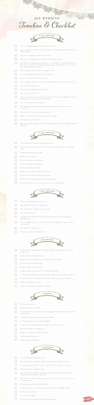 Wedding Day Timeline Printable Unique Diy Wedding Timeline and Checklist Free Printable