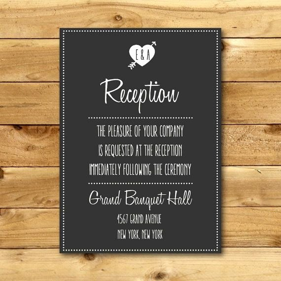 Wedding Direction Card Template Beautiful Printable Chalk Wedding Reception Direction Card by