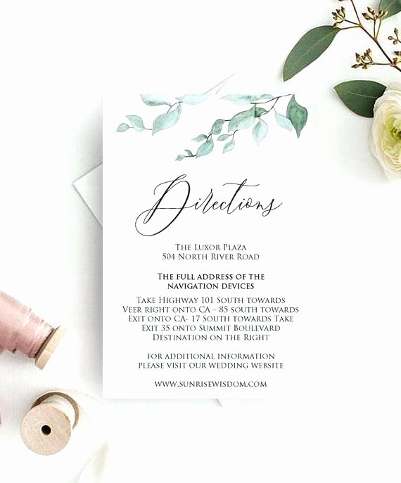 Wedding Direction Card Template Beautiful Wedding Direction Card Direction Card Templates for