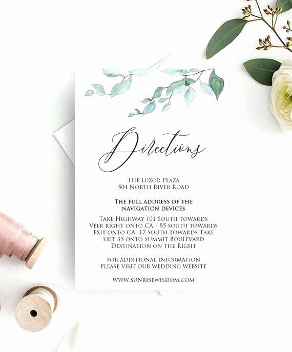 Wedding Direction Card Template Beautiful Wedding Direction Card Direction Card Templates for
