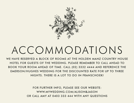 Wedding Direction Card Template Best Of Wording to Use when Giving Out Room Block Information to