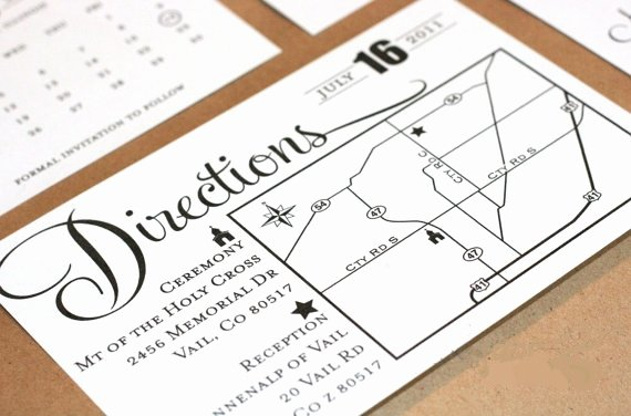 Wedding Direction Card Template Fresh Free Guide to Wedding Invitation Enclosure Cards