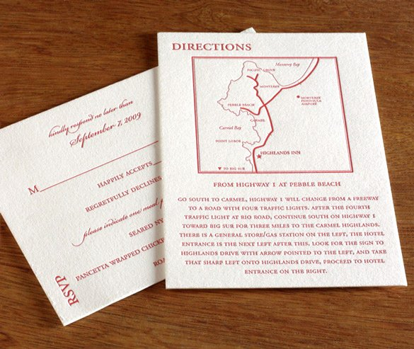 Wedding Direction Card Template Fresh How to Word the Directions Card for Your Wedding