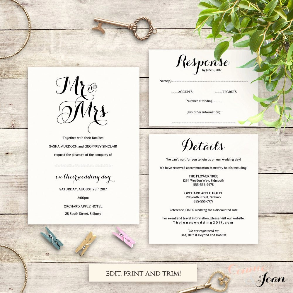 Wedding Direction Card Template Luxury Directions Card Printable Template Wedding Guest Enclosure