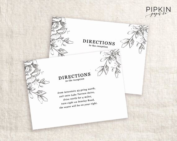 wedding direction cards