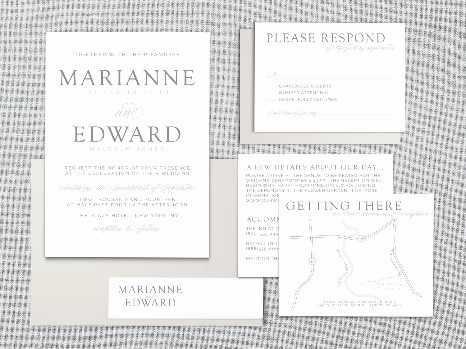 Wedding Direction Card Template Unique Printable Wedding Invitation Set – Just My Type