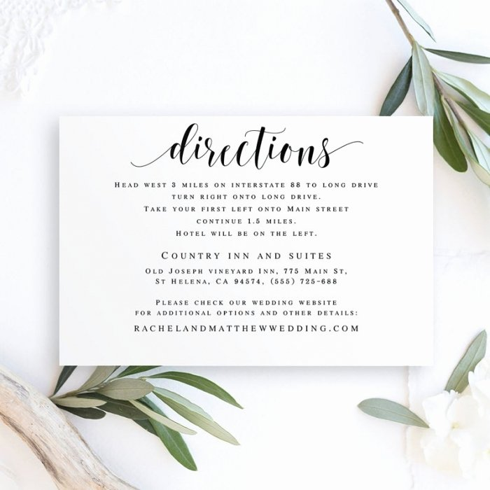Wedding Direction Cards Template Beautiful Awesome Wedding Invitation Inserts Directions Templates