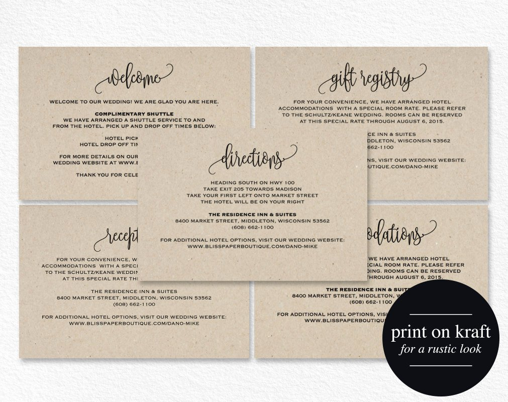 Wedding Direction Cards Template Beautiful Enclosure Cards Reception Card Directions Card Gift