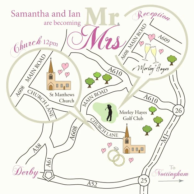 Wedding Direction Cards Template Fresh Wedding Map Google Search W O R K E D Map