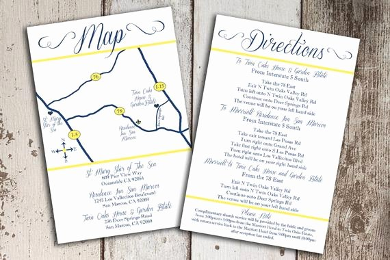 Wedding Direction Cards Template Inspirational Items Similar to Custom Wedding Map and Direction
