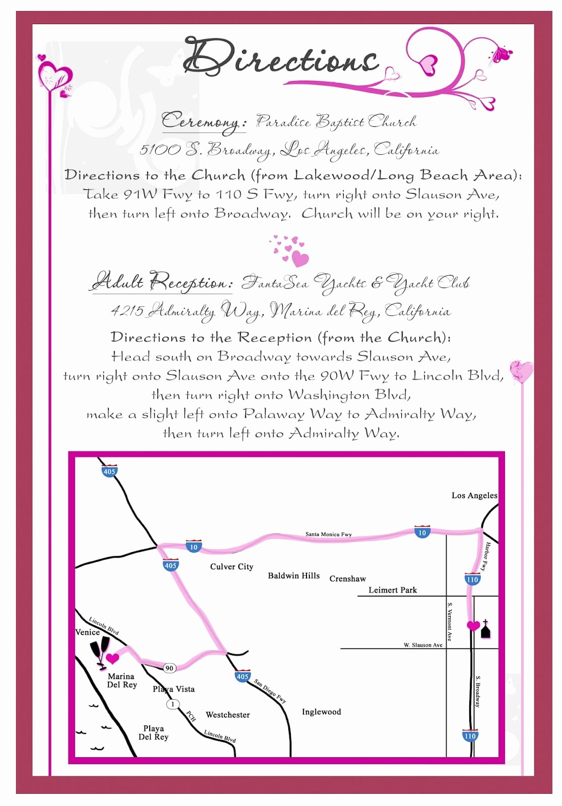 Wedding Direction Cards Template Lovely Direction Maps for Invitation