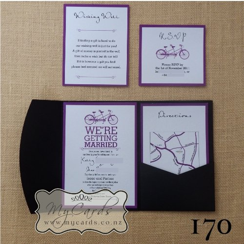 Wedding Direction Cards Template Unique A6 Pocketfold with Inserts Wedding Invitation 170