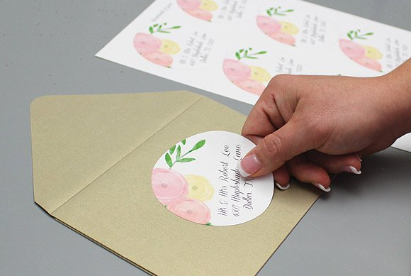 Wedding Envelope Address Template Awesome Garden Bouquet Wedding Address Labels – Download & Print