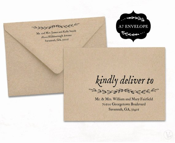Wedding Envelope Address Template Awesome Wedding Envelope Addressing Template A7 Envelope Size