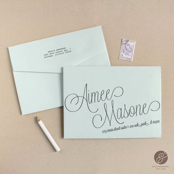 Wedding Envelope Address Template Beautiful Instant Download Script Diy Envelope Template