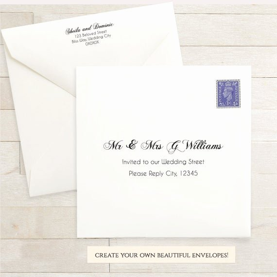 Wedding Envelope Address Template Best Of Printable Wedding 6x6 Envelope Template 6 X 6 Invitation