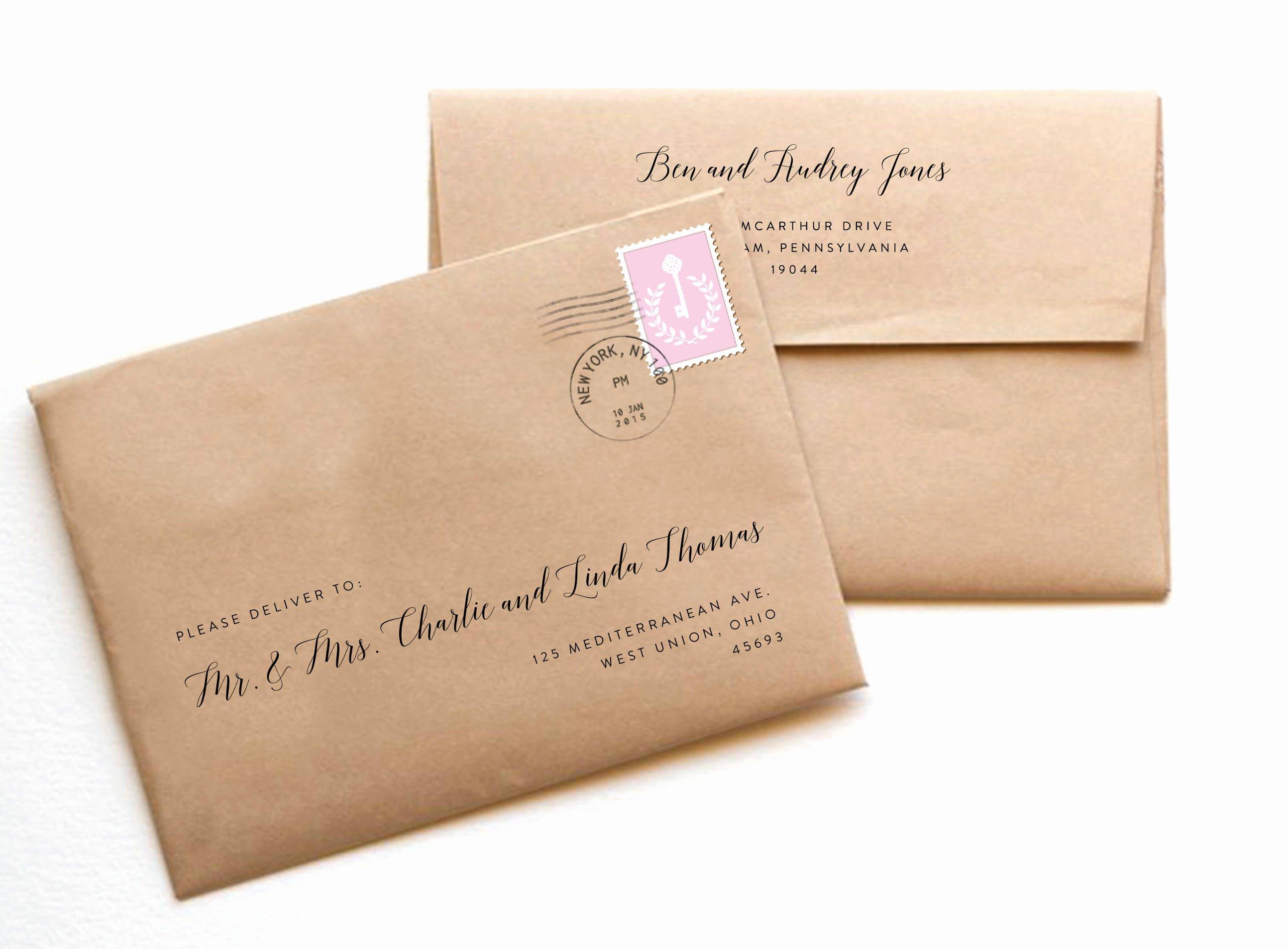 Wedding Envelope Address Template Unique Wedding Envelopes Envelope Template Printable Envelope