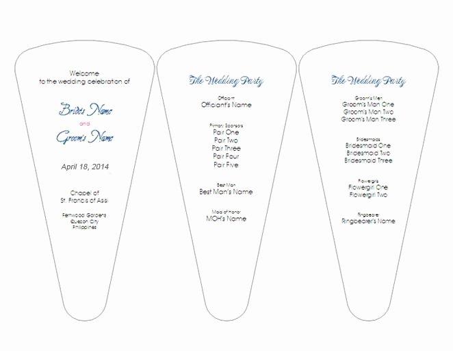 Wedding Fan Template Free Awesome Creative Wedding Ceremony Program Diy Templates
