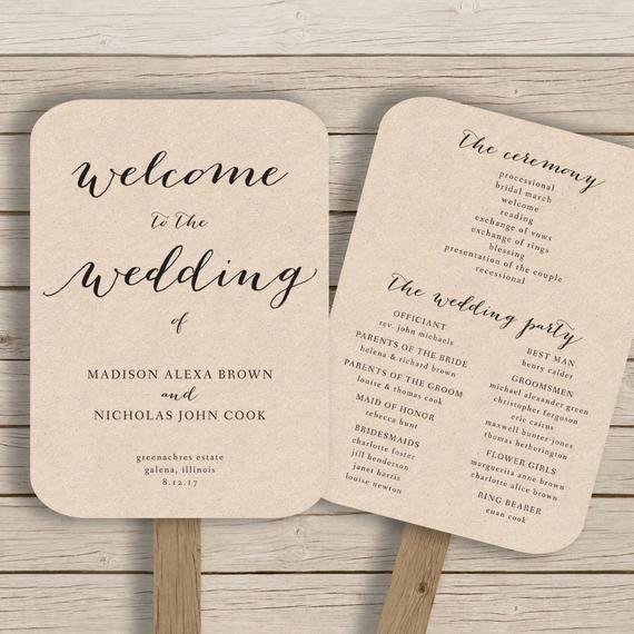 Wedding Fan Template Free Beautiful Wedding Program Fan Template Printable by Hopestreetprintables