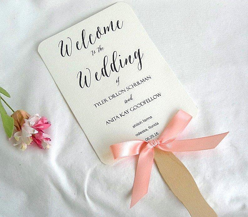 Wedding Fan Template Free Best Of Wedding Fan Wedding Program Fans Coral Peach Ivory Rustic