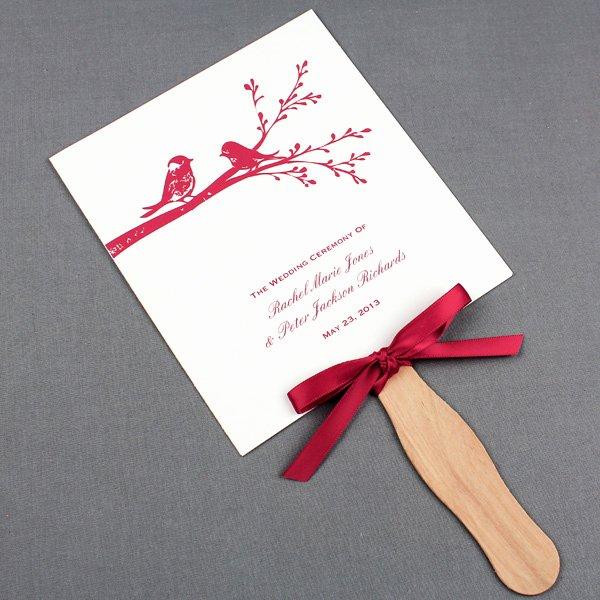 Wedding Fan Template Free Elegant Wedding Fan Programs Template with Birds – Download & Print