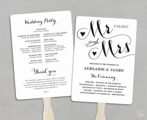 Wedding Fan Template Free Inspirational 17 Best Ideas About Wedding Program Templates On Pinterest