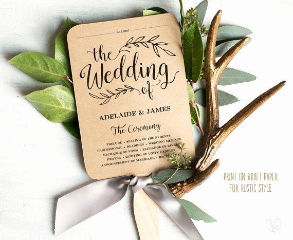 Wedding Fan Template Free Lovely Printable Wedding Program Template Rustic Wedding Fan