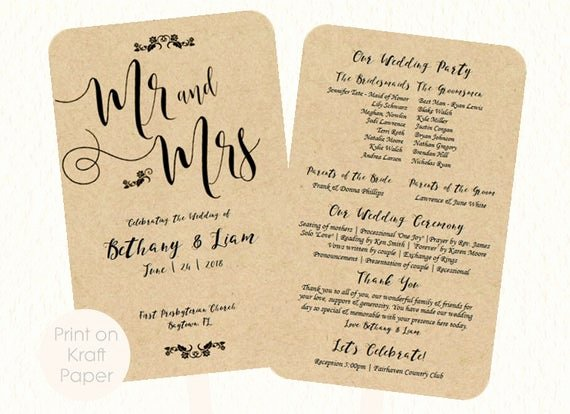 Wedding Fan Templates Free Awesome Wedding Fan Program Template Mr and Mrs Kraft by