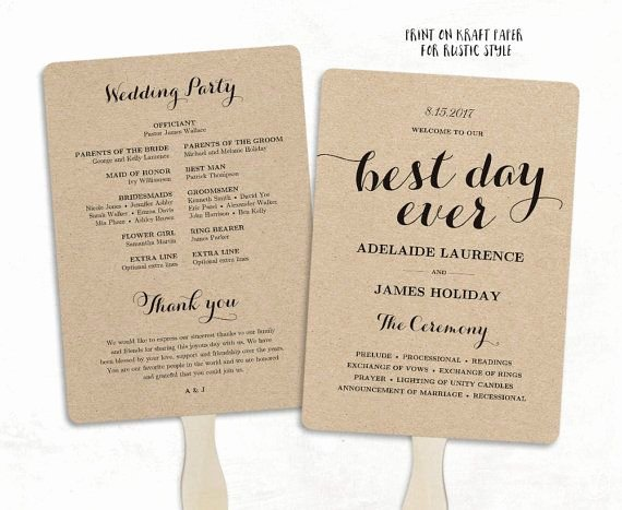 Wedding Fan Templates Free Beautiful Best 25 Wedding Program Templates Ideas On Pinterest