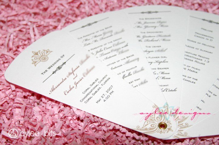 Wedding Fan Templates Free Elegant Diy Fan Programs