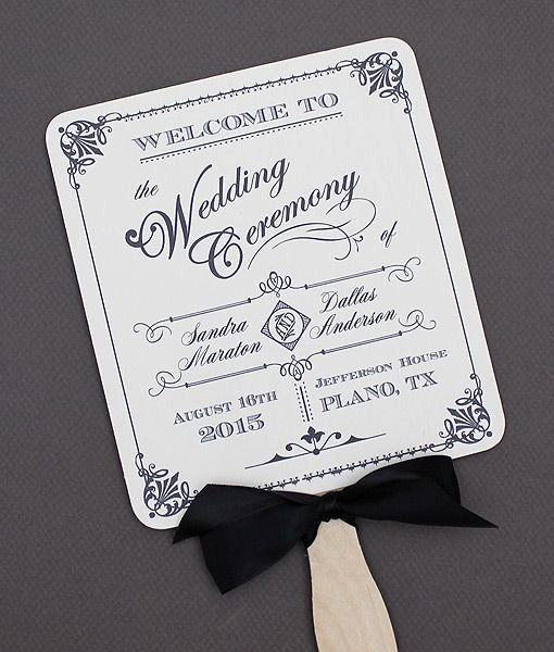 Wedding Fan Templates Free Fresh Diy ornate Vintage Paddle Fan Wedding Program Template