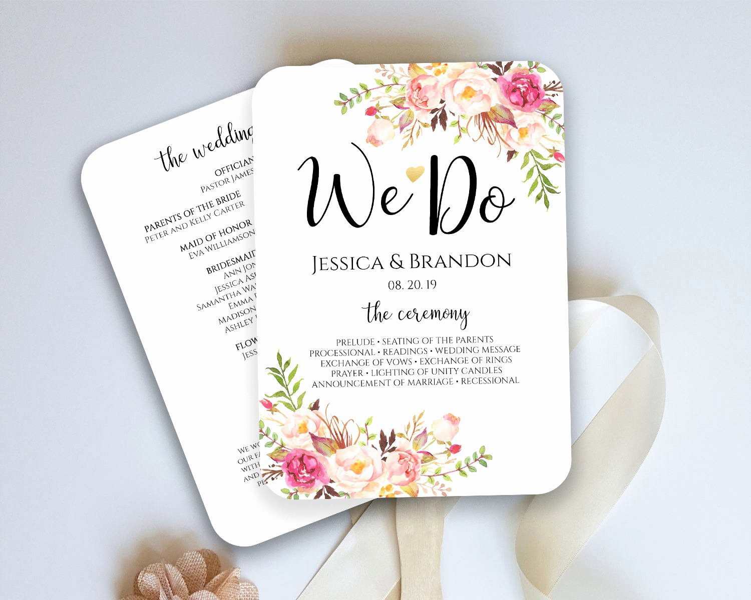 Wedding Fan Templates Free Inspirational Wedding Program Fan Template Ceremony Program Fan Wedding