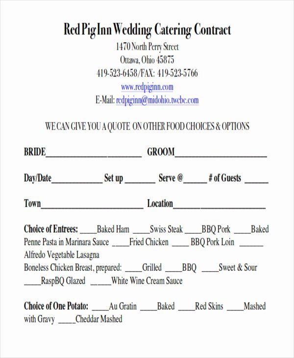 Wedding Flower Contract Template Awesome Sample Wedding Contract Agreements 9 Examples In Word Pdf
