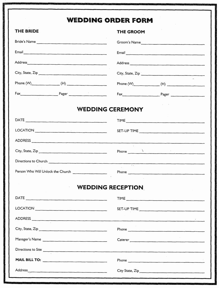 Wedding Flower Contract Template Awesome Wedding Flower Planner Wedding order form