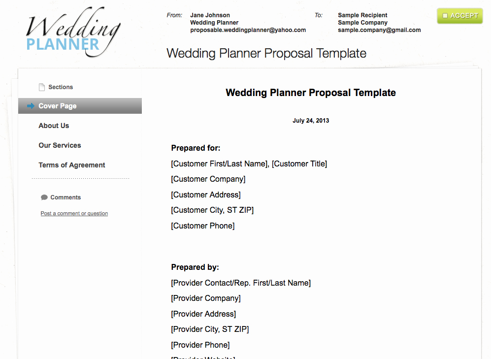 Wedding Flower Contract Template Awesome Wedding Planner Quotation Template – Planner Template Free
