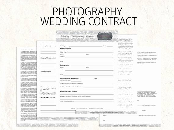 Wedding Flower Contract Template Beautiful Wedding Graphy Contract Business forms by