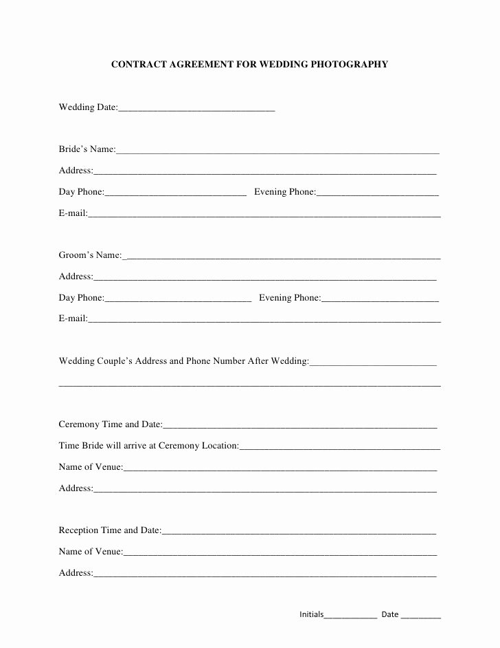 Wedding Flower Contract Template Best Of Best 25 Graphy Contract Ideas On Pinterest