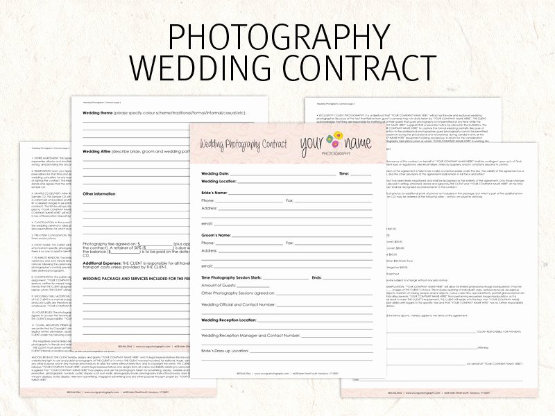 Wedding Flower Contract Template Best Of Wedding Graphy Contract Business forms Flowers Editable