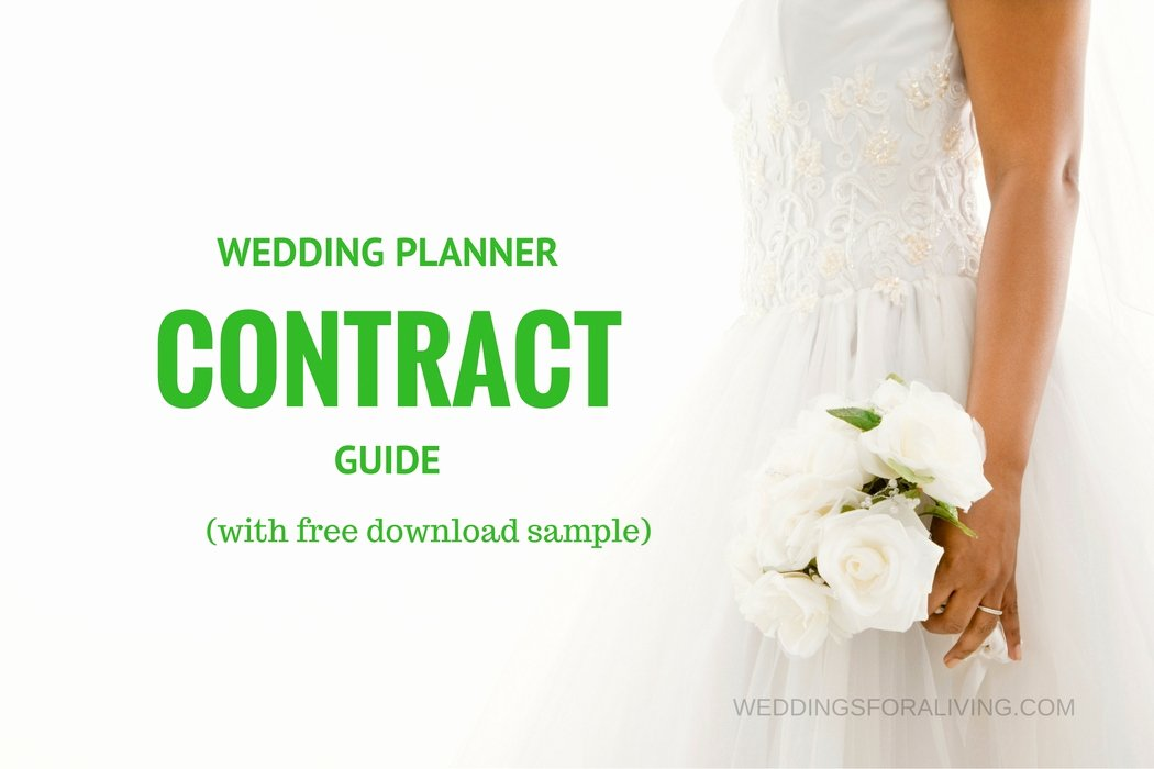 Wedding Flower Contract Template Elegant Free Sample Wedding Planner Contract