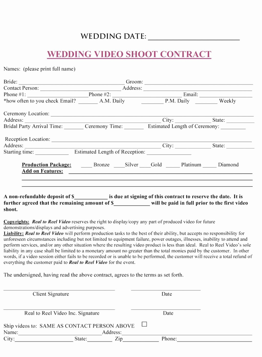 Wedding Flower Contract Template Inspirational 011 Plan Template event Contract Sample Contracts for