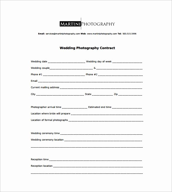 Wedding Flower Contract Template Inspirational Graphy Contract 9 Download Free Documents In Word Pdf
