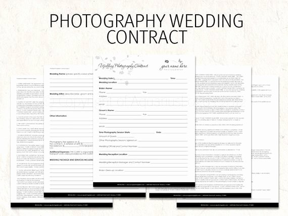 Wedding Flower Contract Template Unique Wedding Graphy Contract Business forms butterfly Flowers